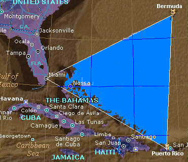 bermuda triangle maps